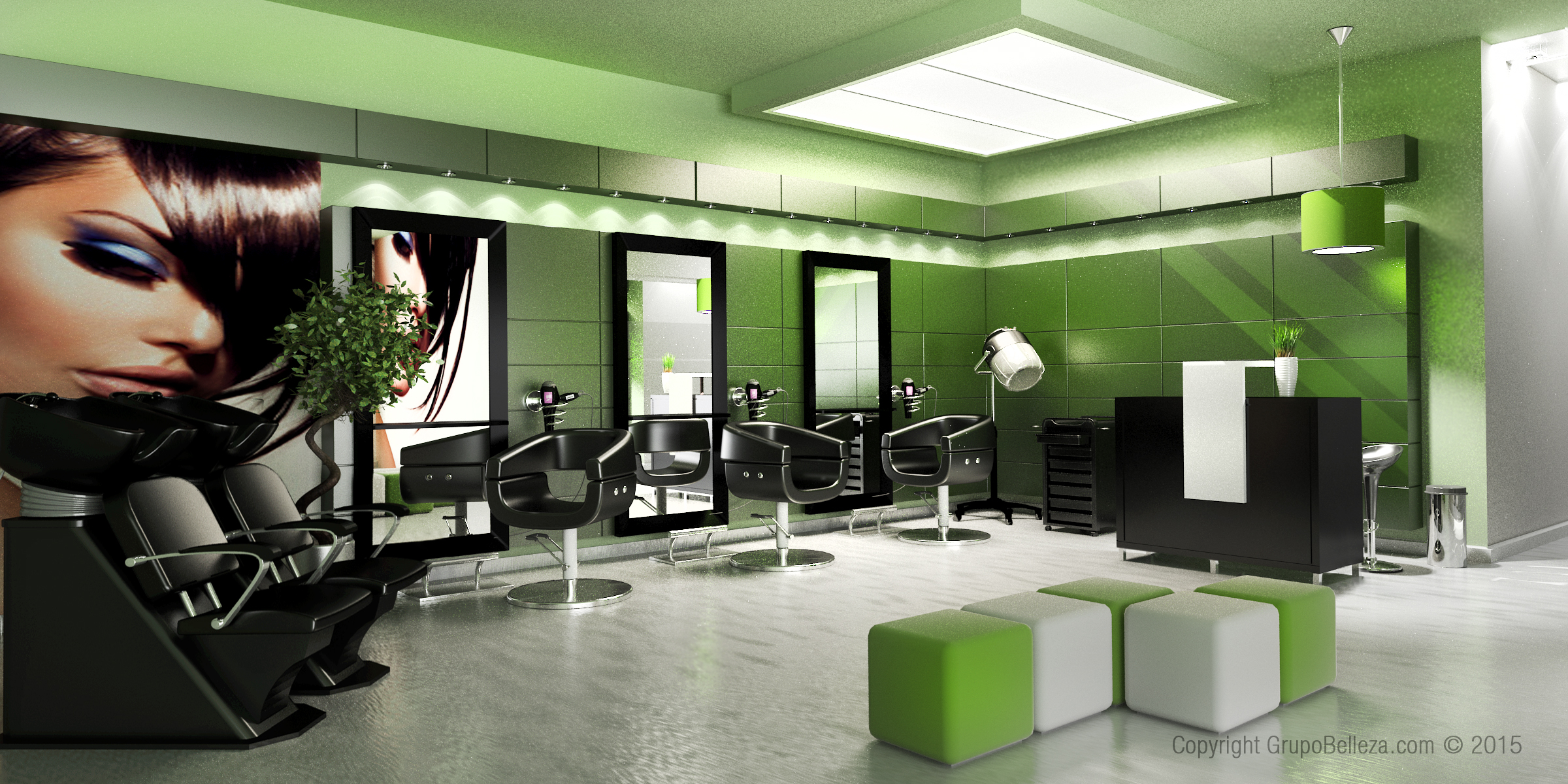 Conjunto misku estudio de dise o 3d barcelona blog for Disenos de espejos para peluqueria